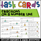 Fractions on a Number Line Task Cards
