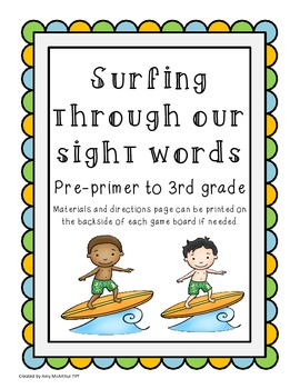 Surfing through Our Sight Words ~ Dolch Words