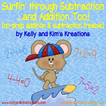 Surfing through Subtraction and Addition (FREEBIE)