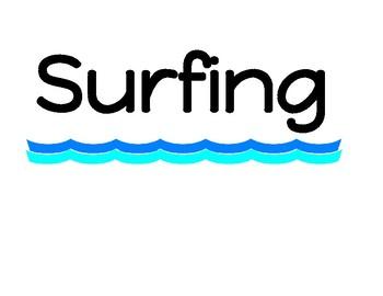 Surfing through Summer Reading Bulletin Board