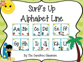 Surf's Up Alphabet Line