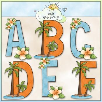 Surf's Up Alphabet Clip Art (A - Z) - Beach Clip Art - CU Colored Clip Art