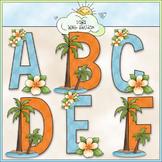 Surf's Up Alphabet Clip Art (A - Z) - Beach Clip Art - CU