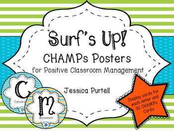 Surf's Up! CHAMPs Posters for Positive Classroom Management