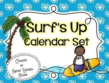 Surf's Up Calendar Set