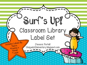 Surf's Up! Classroom Library Label Set (Fountas/Pinnell Levels, Genre, & Lexile)