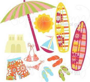 Surf's Up Clipart by Poppydreamz