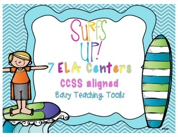 Surf's Up Common Core Aligned ELA Centers for the end of the year{7}