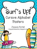 Surf's Up! Cursive Alphabet Posters