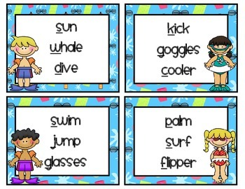 Surfs Up Dude {Literacy Center Activities}