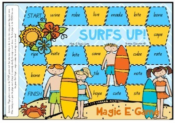 Surfs Up Magic E Board Game
