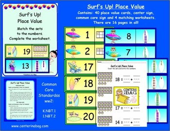 Surf's Up! Place Value (K.NBT.1, 1.NBT.2)