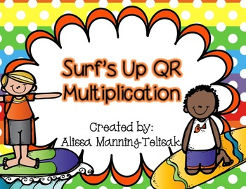 Surf's Up QR Multiplication (2 Digit by 1 Digit Multiplication)