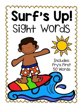Surf's Up Sight Words