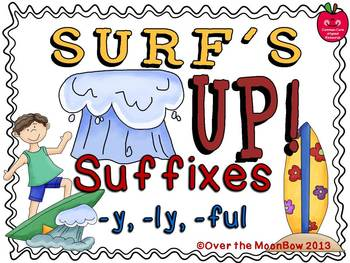 Surf's Up Suffixes –y –ly -ful Word Work Center