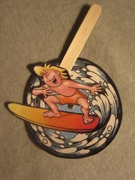Surfs Up Surfer. Fun Craft Art