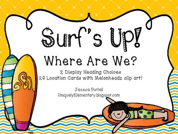 Surf's Up! Where Are We? Poster Set