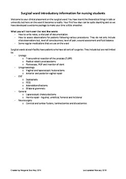 Surgical nursing guide