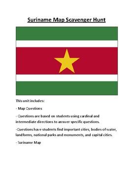 Suriname Map Scavenger Hunt