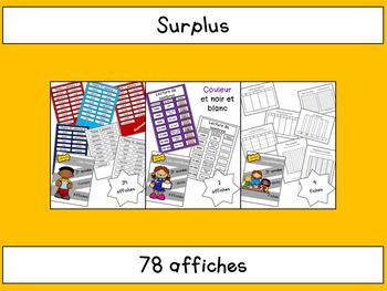 Surplus des cahiers de 3e année
