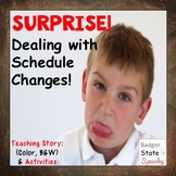 Social Story Dealing with Schedule or Routine Changes