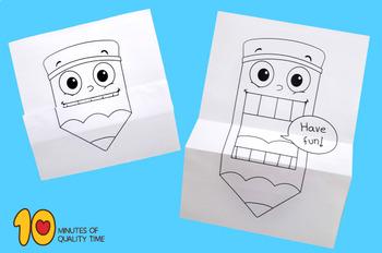 Surprise Folding Paper Pencil Craft