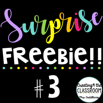 Surprise Freebie #3 {500th feedback celebration!}