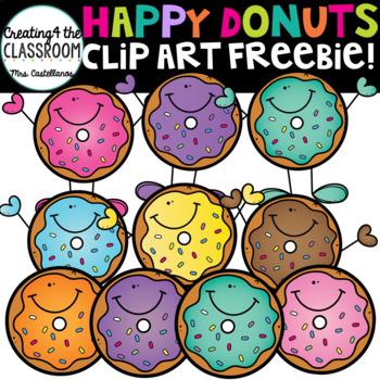 Happy Donuts Clip Art Freebie! {Donut Clip Art}