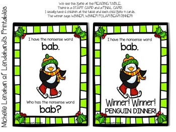 Christmas Themed NWF I Have Who Has Game by Lendahand's Printables