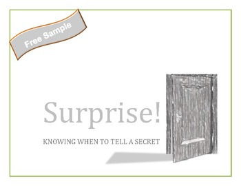 Surprise!  Knowing when to tell a secret