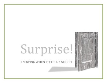 Surprise!  Knowing when to tell a secret (full story)