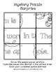 Surprise Mystery Puzzles for Teaching by the Letter A - Fluency work Included