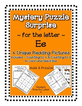 Surprise Mystery Puzzles for Teaching by the Letter E - Fluency work Included