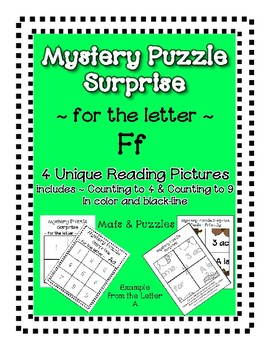 Surprise Mystery Puzzles for Teaching by the Letter F - Fluency work Included