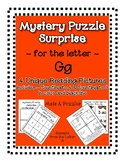 Surprise Mystery Puzzles for Teaching by the Letter G - Fluency work Included