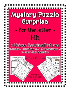 Surprise Mystery Puzzles for Teaching by the Letter H - Fluency work Included
