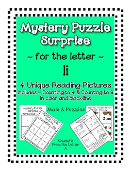Surprise Mystery Puzzles for Teaching by the Letter I - Fl