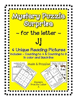 Surprise Mystery Puzzles for Teaching by the Letter J - Fluency & Number work