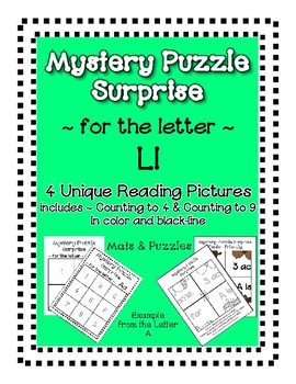 Surprise Mystery Puzzles for Teaching by the Letter L - Fluency & Number work
