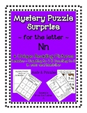 Surprise Mystery Puzzles for Teaching by the Letter N - Fl