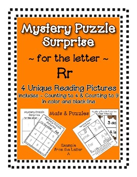 Surprise Mystery Puzzles for Teaching by the Letter R - Fluency & Number work