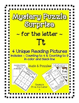 Surprise Mystery Puzzles for Teaching by the Letter T - Fluency & Number work