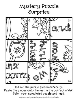 Surprise Mystery Puzzles for Teaching by the Letter Z - Fluency & Number work