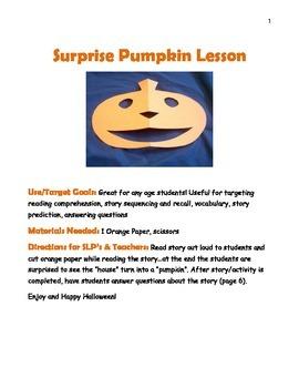 Surprise Pumpkin Story & Lesson Plan