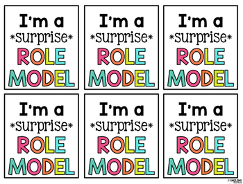 Surprise Role Model Tags and Certificates