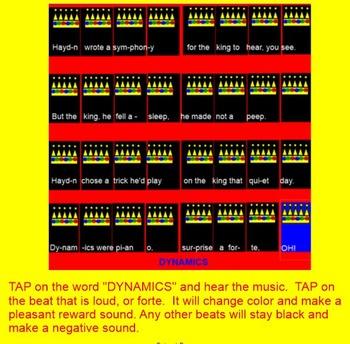 Surprise Symphony by Haydn - Smartboard - titi - dynamics - pattern - embedded