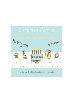 Surprise birthday party clip art
