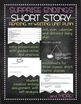 surprise endings short story unit by tamara salisbury tpt surprise endings short story unit