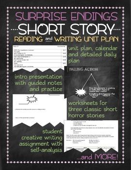 Surprise endings short story unit