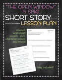 """""""The Open Window"""" by Saki short story lesson plan"""